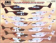 AOA Decals 1/32 O-2 SKYMASTER FAC & BS BOMBER OSCAR DEUCES in Vietnam