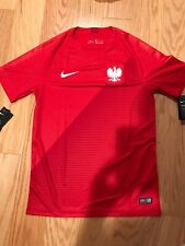 Nike Poland Away Stadium Jersey '18-'19 (Sport Red/Gym Red/White) Size S BNwT