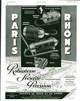 Publicité ancienne aspirateurs Paris-Rhône 1937 issue de magazine