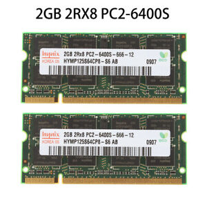 hynix 2GB 4GB 8GB PC2-6400S 2RX8 DDR2-800MHz 200PIN SODIMM Laptop Memory RAM