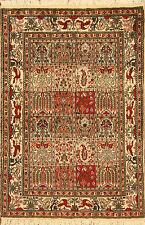 Alfombras orientales Auténticas hechas a mano persas 3828 (143 x 96) cm corta
