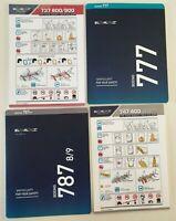 EL AL Airline Set of 4 Safety Cards Boeing 737-800/900 747-400 777-200 787-8/9