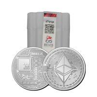 2021 Ethereum Crypto Commemorative 1oz 999 Silver Round ETH Blockchain Mint