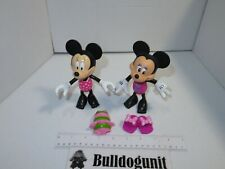 Disney Lot of 2 Minnie Mouse 2010 & 2011 Figure Mattel Toy Mickey