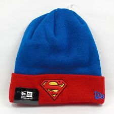 New Era Cap Men's DC Comics Superman Hero Logo Basic Winter Knit Beanie Hat