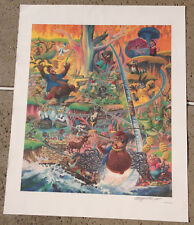 Rare Ultra Large Song Of The South Splash Mountain 24x30 Signed Lithograph L@@K