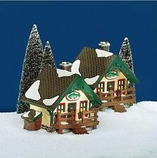 FISHERMAN'S NOOK CABINS BASS AND TROUT SET OF TWO DEPT 56 RETIRED SNOW VILLAGE
