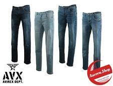 jeans UOMO elasticizzato AVIREX cotone SLIM FIT 5 tasche primavera estate denim