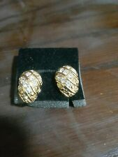 AVON clip-on, gold-plated Diamanté Earrings brand new rare and discontinued