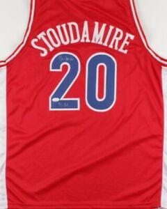 "Damon Stoudamire Signed Jersey Inscribed ""95 AA"" (JSA COA)Arizona Wildcats"