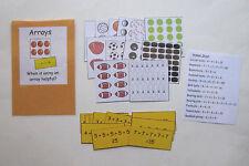 Teacher Made Math Center Educational Resource Learning Game Arrays