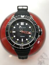 Men's Nautica NMX DIVE STYLE DATE Black Silicone Watch NAD18519G