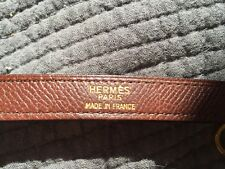 Hermes kelly shoulder strap / drak brown