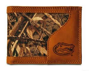 Florida Gators Bifold Realtree Max-5 Camo & Leather Wallet w/ Embossed Logo NCAA