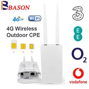 Unlocked FDD SIM Card 4G Router LTE Modem Wireless Mobile WIFI Hotspot RJ45 Port