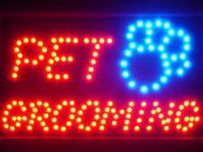 led011-r Pet Grooming Dog Shop LED Light Sign