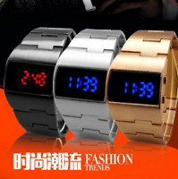 NEW 2017 Military Fashion Digital Electronic Red and Blue LED Men Wrist Watch i