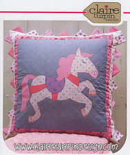 PONY PARADE - Applique Sewing Craft PATTERN - Cushion Shabby Chic