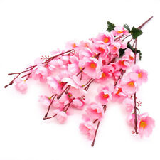 7 Branch 60cm Artificial Cherry Spring Plum Peach Blossom Silk Fake Flowers Tree