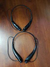 Lg Tone Ultra Original Hbs-800 Lot of 2 Black Bluetooth Headsets (Parts Repair)