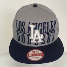 LOS ANGELES DODGERS GREY MLB 9FIFTY NEW ERA SNAPBACK CAP  SMALL/MEDIUM BRAND NEW