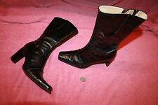 Used Pair of Ladies Antonio Melani zip up Black Boots size 8 M