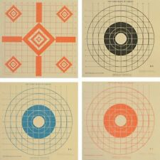 """(36) 100 Yard Sighting Targets with 1"""" Grid on Heavy Tagboard, Choice of Styles"""