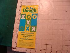 Vintage brochure: NH TIC TAC DOUGH instant sweepstakes 1979 some wear lottery