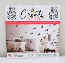 "DCWV Create Decor Removable Wall Decals 8"" x 8"" Butterfly, Includes 40 Decals"