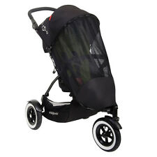 Phil & Teds Sport Classic Sun & Bug Mesh Cover for Single Pushchair Black UPF 50