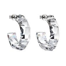 PRECIOSA Creolen Ohrringe Glas Kristall Kreolen Stecker mit Box Geschenk Frauen