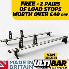 2 X Van Guard Ulti Bars Roof Rack Load Stops - Vauxhall Combo 2001-2012