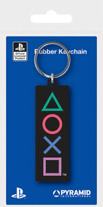 PLAYSTATION (SHAPES) RUBBER KEYCHAINOFFICIAL - FAST UK DISPATCH*