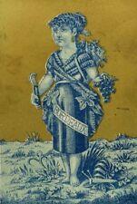 1870's-80's Anthropomorphic Lady Bordeaux Wine Bottle Grapes Big Snail P43