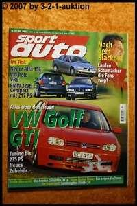 Sport Car 12/97 VW Golf Gti BMW 323ti