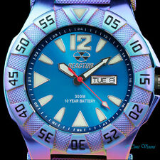 Reactor 45.5mm Gamma Ionized Finish Caribbean Blue Dial Bracelet Watch - 53999