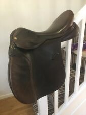 18 Inch GFS Pro GP Brown Leather Saddle Wide Width