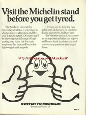 """Michelin """"Motor Cycle Show"""" Motorcycle 1980 Mag Advert #2118"""