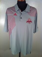 Mens NEW ADIDAS CLIMA-COOL XL Extra Large Red Storm Logo NWT 100% Polyester