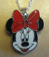 "18""  925 Sterling Silver Chain Minnie the Mouse Pendant Necklace Mickey Cartoon"