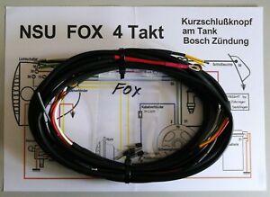 Kabelbaum / Kabelstrang für  NSU - Fox 4Takt mit Bosch-Zündung