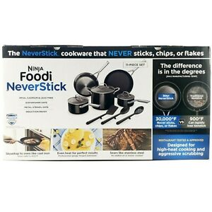 Ninja Foodi NeverStick 11 Piece Cookware Set, Guaranteed To Never Stick, C19600