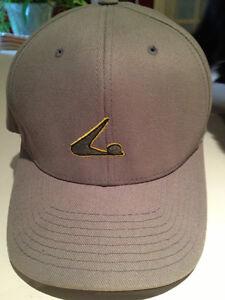SKATE BASEBALL CAP -VINTAGE, KHAKI, FLEXFIT, L-XL , NEW!