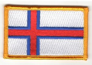 FAROE ISLANDS FLAG PATCH PATCHES BADGE IRON ON NEW EMBROIDERED