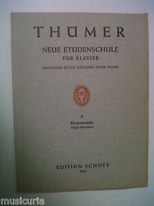 piano THUEMER neue etüdenschule Grade 2 Elementarstufe