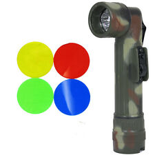 Army FLECKTARN Camo Right-Angle TL-132 TORCH Medium Military LED Flashlight New