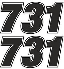 Carrera Número Motocross edurance Auto Moto pegatina de vinilo gráfico calcomanía