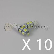 10 x Bombillas 9 LED SMD T10 W5W Coche Posicion, interior, cortesia Blanco Xenon