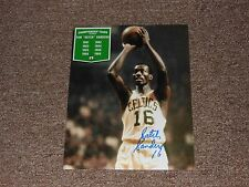 Celtics Tom Satch Sanders Autographed 8x10 Photo  Championship Years