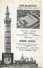 Grimsby Town v Oldham Athletic Division 3 Nov 11th 1972 programme good